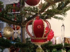 Crown Christmas tree decoration