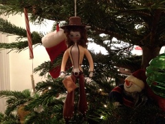 Cowgirl Christmas tree decoration