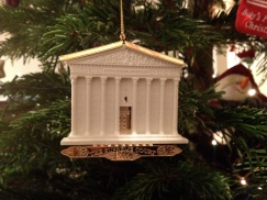 Supreme Court Christmas tree decoration