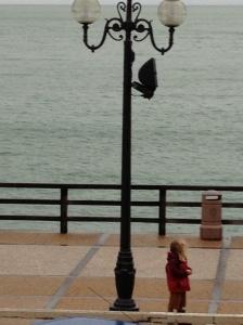 Lamp post, Etretat beach front, Normandy