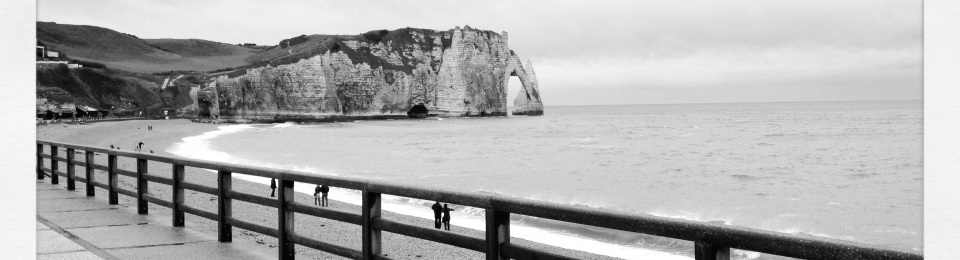 Boardwalk, Etretat, Normandy