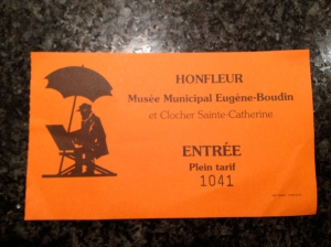 Boudin Museum ticket, Honfleur
