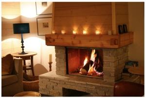 Fireplace, La Boite qui Brille, Vaujany chalet