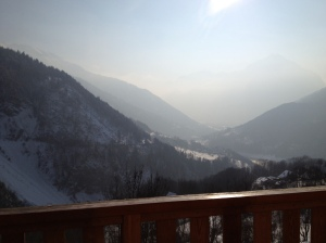 View from chalet, Le Perrier, Vaujany