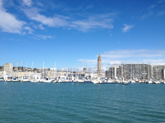 Le Havre harbour and Auguste Perret tower