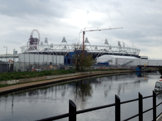 Olympic Stadium and River Lea (Lee) April 2012