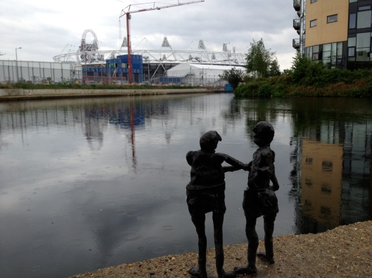 River Lea (Lee) and Olympic Stadium