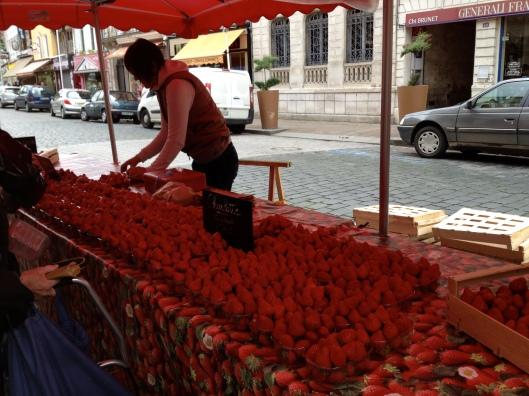 Strawberries, Pont-Audemer market