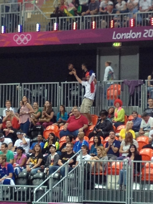 French supporter, Women's Basketball, London Olympics