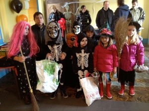 Halloween in the village, Normandy