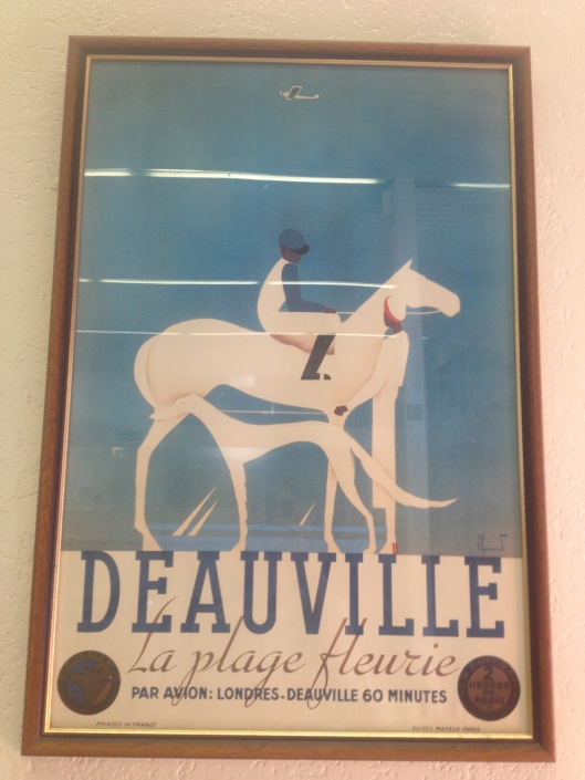 Deauville Poster with horse and greyhound