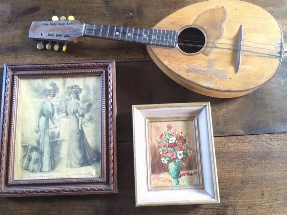 mandolin, brocante