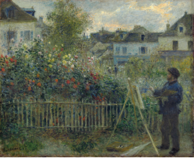 Monet in garden