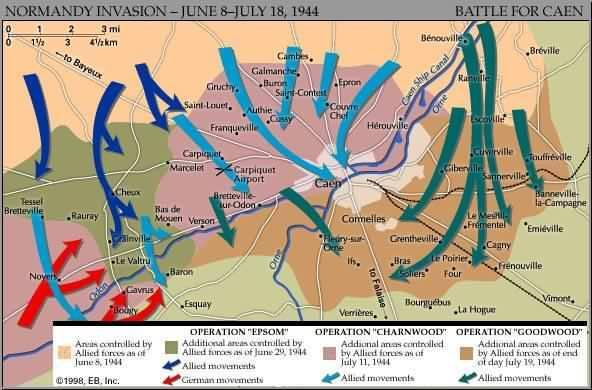 Image result for battle of caen map
